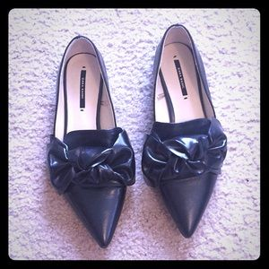 Zara loafers with bow detail